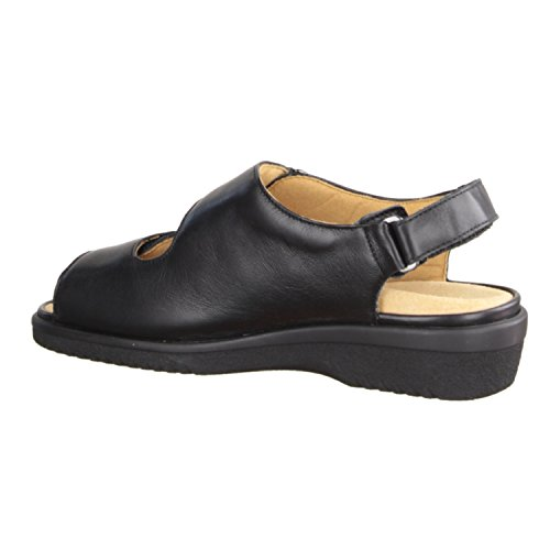 Ganter Inge 204781-100- Damenschuhe Sandale bequem / lose Einlage, Schwarz, calf - leder, absatzhöhe: 30 mm