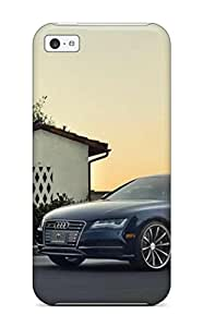 Iphone 5c Case Cover - Slim Fit Tpu Protector Shock Absorbent Case (audi A7 37)