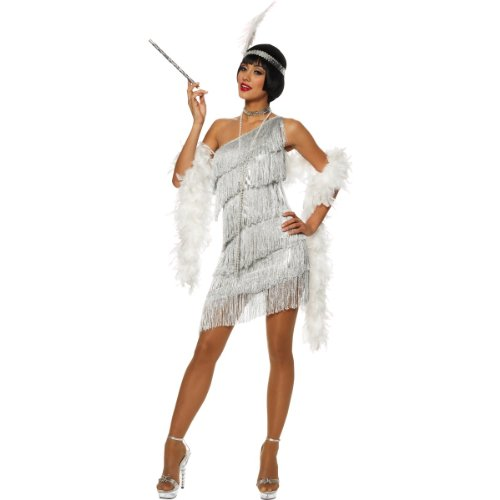 Womens Jazz Flapper Costumes (Dazzling Flapper Costume - Small)