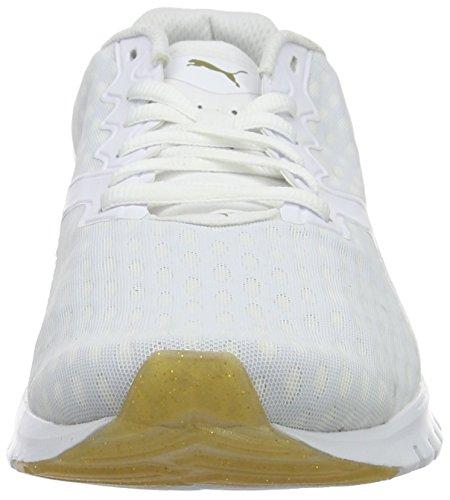 Puma Ignite Dual Gold Wn's - Zapatillas de Entrenamiento Mujer Blanco - Weiß (puma WHITE-GOLD 01)