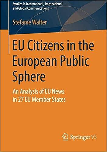 Stefanie Walter - Eu Citizens In The European Public Sphere: An Analysis Of Eu News In 27 Eu Member States