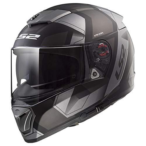 LS2 Helmets Unisex-Adult Full-face-Helmet-Style Motorcycle (Physics Black XXX-Large