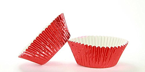 500pc Mini Size Red Foil Baking Cup With Greasepoof Liner