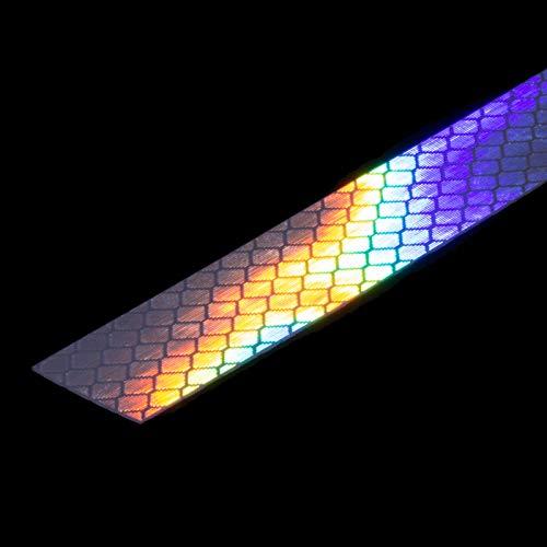 DonDo 3M Diamond Grade 4090 Reflektorband Scotchlite hochreflektierend mit Mikroprismen RA3 C klebend Reflektierendes Klebeband Reflexfolie Konturmarkierung wei/ß 5mm x 5 Meter