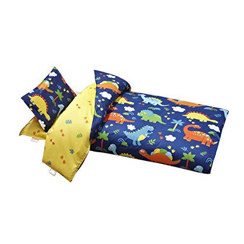 3-Piece Toddler Sheet Set Microfiber Fitted Sheet Crib Sheets Set oddler Bed Set Baby Bedding Sheet and Pillowcase Sets (Dinosaur - Park Set Bedding Crib