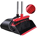 Broom and Dustpan [2020 Upgrade] Tiumso Dust pan Broom Set with Upgrade Combo and Sturdiest Extendable Long Handle,4 Layers B