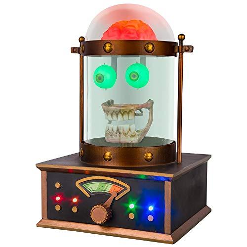 Halloween Talking Skeleton Head (Hyde and Eek! Boutique Halloween Dark Wonder Animated Talking Cloche Skeleton Skull)
