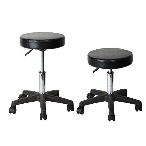 Flexzion rolling swivel stool pneumatic work chair for 360 degrees salon