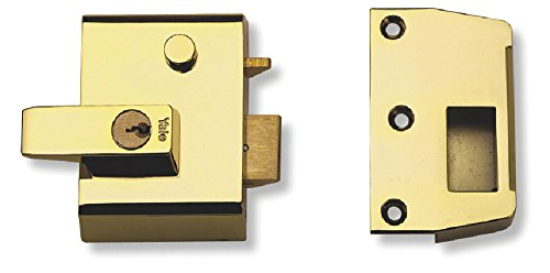 - Yale B-2-BLX-PB-40 - Double Locking Nightlatch - 40mm - Brass Finish - High Security can be Locked from Inside with Key
