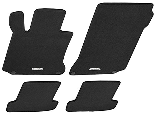 Mercedes Benz OEM Carpeted Floor Mats 2014 to 2019 S-Class Sedan S550 S560 S450 S63 S65 S600 (Color:Black)