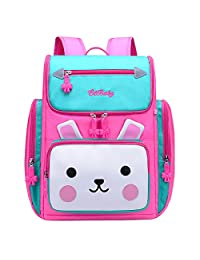 TOTZY Kids Backpack Cute Rabbit Backpack Schoolbag for Girls Primary School