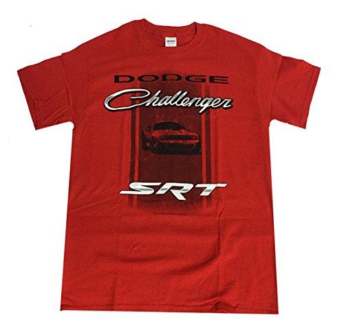 david-carey-dodge-challenger-srt-chrome-adult-short-sleeve-t-shirt-red-xl