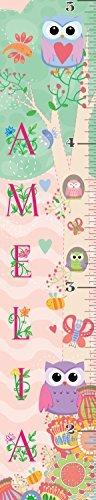 Mona Melisa Designs Customized Flower Garden Amelia Growth Chart Decorative Wall Sticker [並行輸入品]   B077Z38XWM