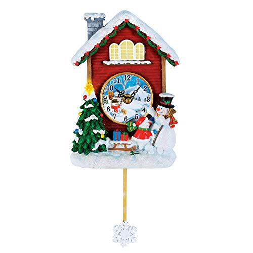 Collections Etc Musical Snowman Wall Clock