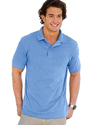 Hanes Men's 7 oz. ComfortSoft� Cotton Piqu� Polo - CAROLINA BLUE - S