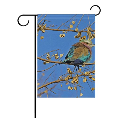 Jere Animal Autumn Avian Garden Flag Decorative Double-Sided Polyester 12x18 inch for Your Yard