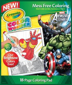 Crayola Color Wonder Avengers Coloring Pad