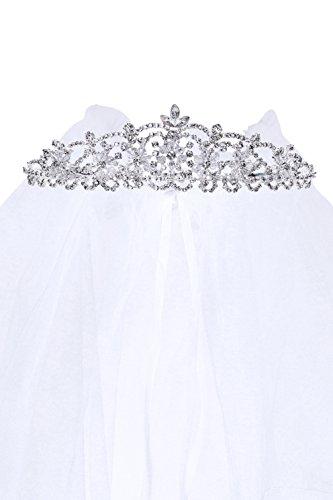 (Kids Dream Precious First Communion Flower Girl Veil w/Elegant Crystal Stone Crown for)