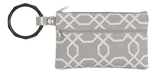 Ganz Grey and Beige Canvas Cosmetic Bag with Removable Ba...