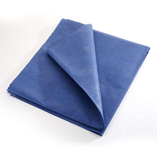 MediChoice Drape Sheets, Stretcher, Non Woven Repels Fluid, Spunbond Meltblown Spunbond, 40 Inch x 90 Inch, Blue (Case of 50) by MediChoice (Image #1)