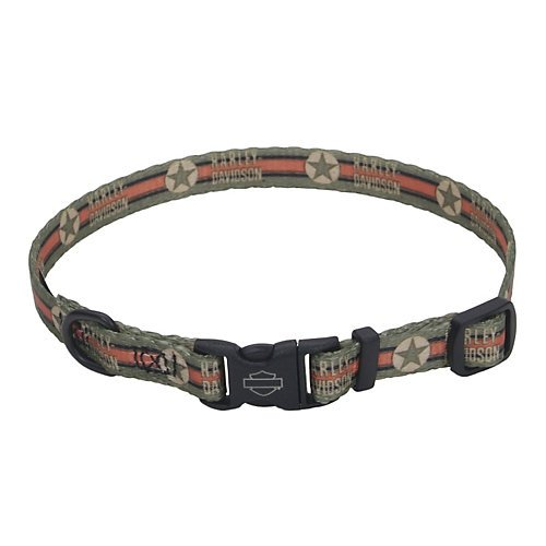 Harley Davidson Vintage Star Dog Collar 12-18in