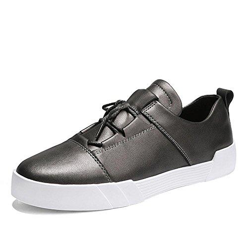 Scarpe piatte scarpe sportive Scarpe da corsa Scarpe da uomo pelle impermeabile del Sport all'aria aperta Fatto a mano Usura antiscivolo , gray , UK 6.5 / EU 39