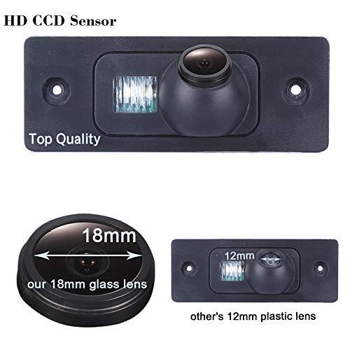 HDMEU Vehicle Car Rear View Backup Camera for VW Volkswagen Golf Variant Mk4 MK5 / Tiguan/Touareg/Polo 3C /Jetta Passat/Sharan/Bora 2008-2013;Skoda Scirocco Fabia (Sharan Camera)