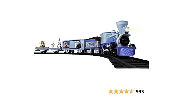 Lionel Disney's Frozen Ready-to-Play Set, Battery-Powered Model Train Set with Remote