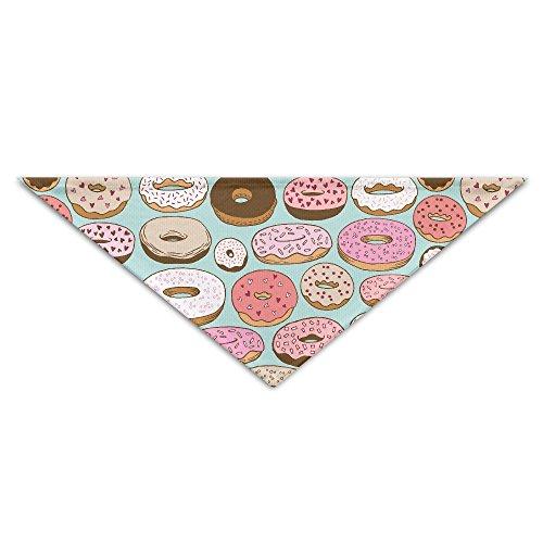 YLJ Donut Sweet Dessert.jpg Pet Scraf Accessories Adjustable Triangle Dog Cat Bandana Scarf Collar (Donut Costume For Dogs)