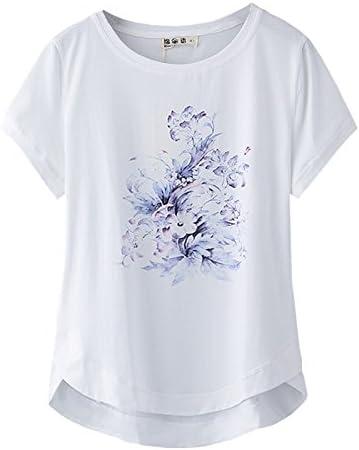 xing xiao Camisetas para Mujer Manga Corta Camiseta Mujer Blanca ...