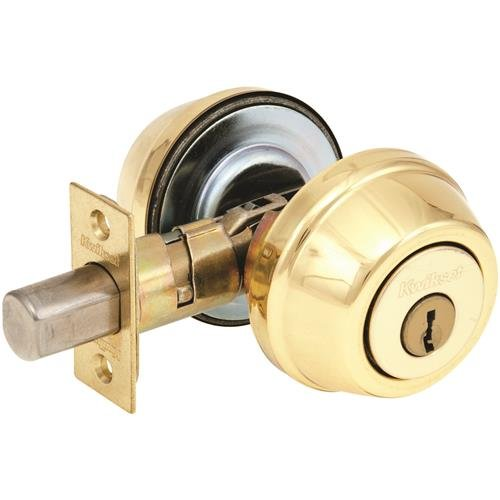 Kwikset 785 3 AL Deadbolt, Double Cylinder Polished Brass, 1'' x 1'' x 1''