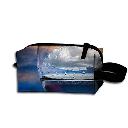 (Makeup Cosmetic Bag Nature Sky Clouds Goblet Medicine Bag Zip Travel Portable Storage Pouch For Mens Womens )