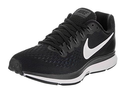 Nike Women's Air Zoom Pegasus 34 Running Shoe BLACK/WHITE-DARK GREY-ANTHRACITE 8.5
