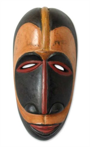 Amazon.com: Novica decorativas de madera máscara, negro ...