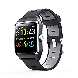 ENACFIRE Smart Watch, W2 GPS Fitness Tracker IP68 Waterproof Smartwatch, Heart Rate Monitor, Sleep Tracker, Step Counter…
