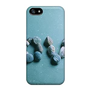 Iphone 5/5s Cases Covers - Slim Fit Protector Shock Absorbent Cases (love Pebbles)