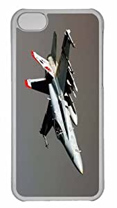 Customized iphone 5C PC Transparent Case - War Airplane 26 Personalized Cover