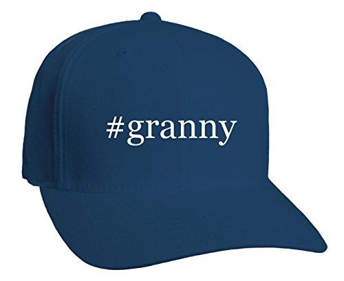 #granny - Hashtag Adult Baseball Hat, Blue, Large/X-Large (Hat Granny)