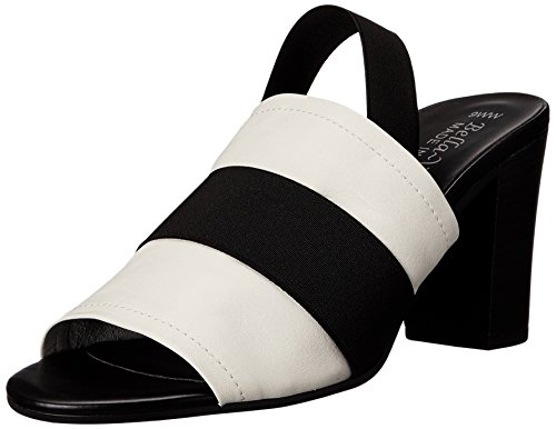 Bella Vita Womens Sassari Dress Sandal White/Black Gore