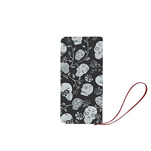 Womens Clutch Purse, Sugar Skull Printed Clutch Wallet/Purse for Women ()