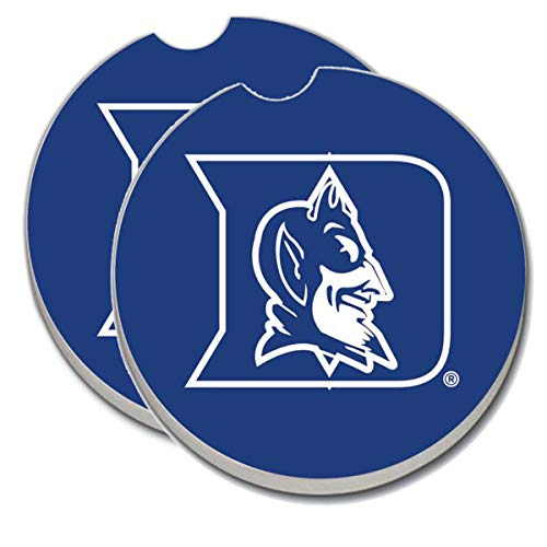 Duke Blue Devils Car Coasters - Sandstone Car Drink Coaster (Set of 2 Coasters) ()