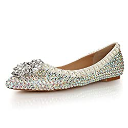 Rhinestone Glitter Faux Crystal Premium Leather Shoes