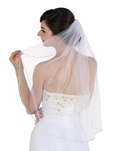 Bicone Crystal Beaded Bridal Wedding product image