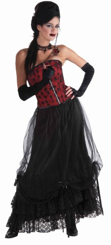 Steampunk Witch (Forum Novelties Midnight Gathering Skirt, Black, One Size)