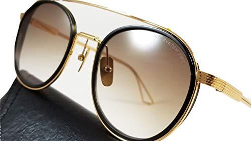 dégradée en de soleil Deux lunettes or marron 115 Dita avec DTS 02 System et Monture boîte lentille OIwzOxf