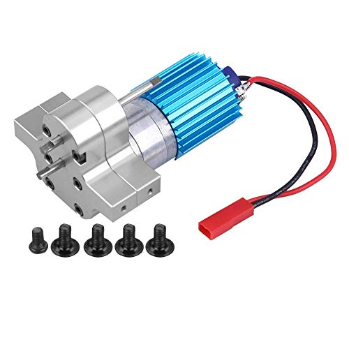(Dilwe RC Gearbox, Metal Gear Box Speed Change with 370 Brush Motor for WPL 1633 RC Car(Silver))
