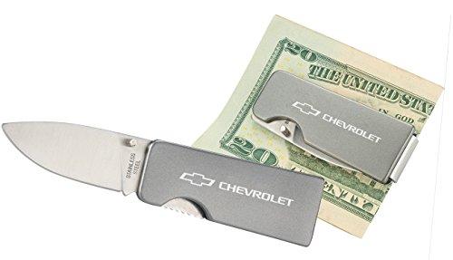 Chevrolet Knife Money Clip  Silver One Size - Chevrolet Clip