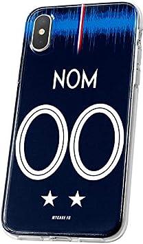 MYCASEFC Coque Equipe DE France Honor 6X Foot Personnalisable Silicone nom et num/éro