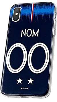 MYCASEFC Coque Equipe DE France Wiko Harry Foot Personnalisable Silicone nom et num/éro