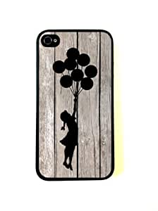 CellPowerCasesTM Banksy Balloon Girl On Wood iPhone 6 4.7 Case - Fits iPhone 6 4.7 and iPhone 6 4.7